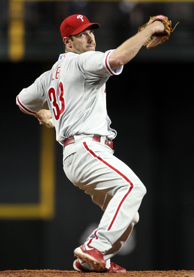 PHOENIX, AZ - APRIL 25:  Starting pitcher Cliff Lee #33 of the Philadelphia Phillies pitches against the Arizona Diamondbacks during the Major League Baseball game at Chase Field on April 25, 2011 in Phoenix, Arizona.  The Diamondbacks defeated the Philli