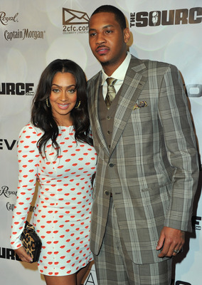 LOS ANGELES, CA - FEBRUARY 19:  TV personality Lala Vazquez and NBA player Carmelo Anthony arrive to the National Basketball Players Association (NBPA) All-Star Gala on February 19, 2011 in Los Angeles, California.  (Photo by Alberto E. Rodriguez/Getty Im