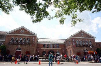 COOPERSTOWN, NY - JULY 25:  The National Baseball Hall of Fame and museum is seen during induction weekend on July 25, 2009 in Cooperstown, New York.  (Photo by Jim McIsaac/Getty Images)