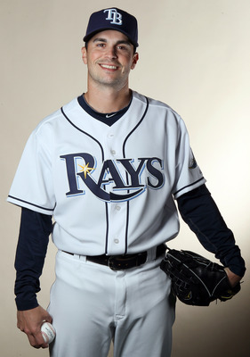 FT. MYERS, FL - FEBRUARY 22:  Brandon Gomes #47 of the Tampa Bay Rays poses for a portrait during the Tampa Bay Rays Photo Day on February 22, 2011 at the Charlotte Sports Complex in Port Charlotte, Florida.  (Photo by Elsa/Getty Images)