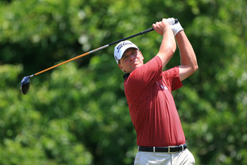 NEW ORLEANS, LA - MAY 1: Steve Stricker hits his tee shot on the second hole during the final round of the Zurich Classic at the TPC Louisiana on May 1, 2011 in New Orleans, Louisiana. (Photo by Hunter Martin/Getty Images)