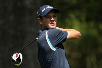 AUGUSTA, GA - APRIL 08:  Martin Kaymer of Germany watches a tee shot on the second hole during the second round of the 2011 Masters Tournament at Augusta National Golf Club on April 8, 2011 in Augusta, Georgia.  (Photo by Andrew Redington/Getty Images)