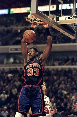 11 Feb 1999: Patrick Ewing #33 of the New York Knicks makes a slam dunk during the game against the Chicago Bulls at the United Center in Chicago, Illinois. The Knicks defeated the Bulls 73- 68.  Mandatory Credit: Jonathan Daniel  /Allsport