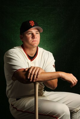 SCOTTSDALE, AZ - FEBRUARY 28:  Brett Pill of the San Francisco Giants poses during media photo day on February 28, 2010 at Scottsdale Stadium in Scottsdale, Arizona.  (Photo by Jed Jacobsohn/Getty Images)