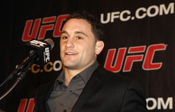 NEW YORK, NY - JANUARY 13:  Frankie Edgar, UFC lightweight champion, speaks during a press conference to announce commitment to bring UFC to Madison Square Garden and New York State at Madison Square Garden on January 13, 2011 in New York City.  (Photo by
