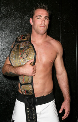 HOLLYWOOD - MARCH 17:  Strikeforce World Middleweight Champion Jake Shields attends the CBS' Strikeforce MMA Fighters Open Media Workout on March 17, 2010 in Hollywood, California.  (Photo by Valerie Macon/Getty Images)