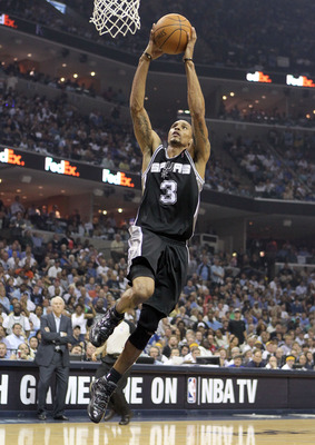 MEMPHIS, TN - APRIL 25:  George Hill #3 of the San Antonio Spurs shoots the ball during the game against the Memphis Grizzlies in Game Four of the Western Conference Quarterfinals in the 2011 NBA Playoffs at FedExForum on April 25, 2011 in Memphis, Tennes