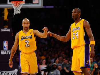 Derek Fisher and Kobe know the ins and outs of the triangle