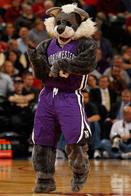 INDIANAPOLIS - MARCH 11:  Mascot 'Willie the Wildcat' of the Northwestern Wildcats performs during the game against the Indiana Hoosiers in the first round of the Big Ten Men's Basketball Tournament at Conseco Fieldhouse on March 11, 2010 in Indianapolis,