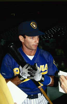 TORONTO - JULY 9:  Paul Molitor of the Milwaukee Brewers speaks to the media during batting practice prior to the1991 All-Star Game at the Toronto Sky Dome on July 9, 1991 in Toronto, Ontario, Canada. (Photo by Rick Stewart/Getty Images)