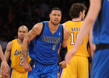 LOS ANGELES, CA - MAY 02:  Tyson Chandler #6 of the Dallas Mavericks reacts while taking on the Los Angeles Lakers in Game One of the Western Conference Semifinals in the 2011 NBA Playoffs at Staples Center on May 2, 2011 in Los Angeles, California. NOTE