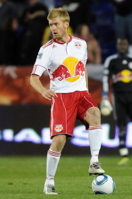 HARRISON, NJ - APRIL 02:  Tim Ream #5 of the New York Red Bulls controls the ball against the Houston Dynamo at Red Bull Arena on April 2, 2011 in Harrison, New Jersey.  (Photo by Jonathan Fickies/Getty Images for New York Red Bulls)
