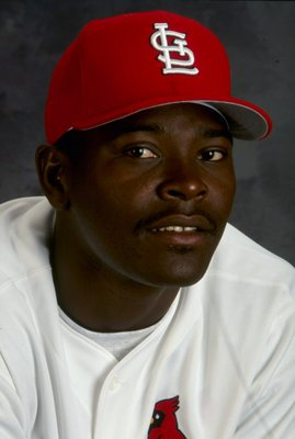 28 Feb 1999: Pitcher Jose Jimenez #63 of the St. Louis Cardinals poses for a studio portrait on Photo Day during Spring Training at the Roger Dean Stadium in Jupiter, Florida.