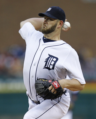 DETROIT, MI - MAY 03: Brad Penny #31 of the Detroit Tigers throws a first inning pitch against the New York Yankees at Comerica Park on May 3, 2011 in Detroit, Michigan. (Photo by Gregory Shamus/Getty Images)