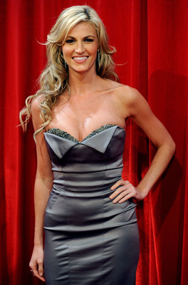 LOS ANGELES, CA - JULY 15:  ***EXCLUSIVE***  TV personality Erin Andrews poses during the 2009 ESPY awards held at Nokia Theatre LA Live on July 15, 2009 in Los Angeles, California. The 17th annual ESPYs will air on Sunday, July 19 at 9PM ET on ESPN.  (Ph