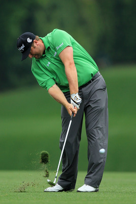 AUGUSTA, GA - APRIL 08:  Steve Marino hits a shot on the fifth hole during the second round of the 2011 Masters Tournament at Augusta National Golf Club on April 8, 2011 in Augusta, Georgia.  (Photo by David Cannon/Getty Images)
