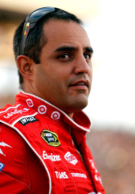 RICHMOND, VA - APRIL 30:  Juan Pablo Montoya. driver of the #42 Target Chevrolet stands in the grid before the NASCAR Sprint Cup Series Crown Royal Presents The Matthew & Daniel Hansen 400 at Richmond International Raceway on April 30, 2011 in Richmond, V