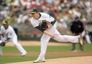 OAKLAND, CA - APRIL 17:  Trevor Cahill #53 of the Oakland Athletics picthes against the Detroit Tigers at Oakland-Alameda County Coliseum on April 17, 2011 in Oakland, California.  (Photo by Ezra Shaw/Getty Images)