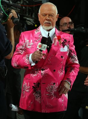 DETROIT - MAY 31:  Hockey analyst Don Cherry reports prior tp the the Pittsburgh Penguins playing the Detroit Red Wings during Game Two of the 2009 Stanley Cup Finals at Joe Louis Arena on May 31, 2009 in Detroit, Michigan.  (Photo by Jim McIsaac/Getty Im