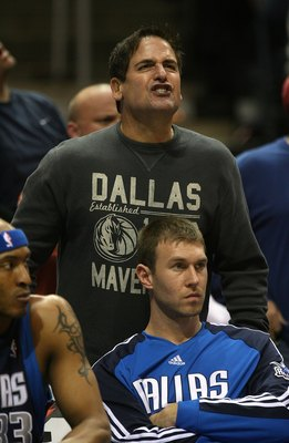 MILWAUKEE - NOVEMBER 16: Owner Mark Cuban of the Dallas Mavericks yells at a referee during a game against the Milwaukee Bucks at the Bradley Center on November 16, 2009 in Milwaukee, Wisconsin. The Mavericks defeated the Bucks 115-113 in overtime.  (Phot