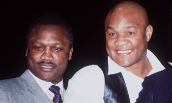 UNDATED:  JOE FRAZIER, GEORGE FOREMAN AND MUHAMMAD ALI. Mandatory Credit: Gray Mortimore/ALLSPORT