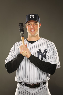 TAMPA, FL - FEBRUARY 23:  Mark Teixeira #25 of the New York Yankees poses for a portrait on Photo Day at George M. Steinbrenner Field on February 23, 2011 in Tampa, Florida.  (Photo by Al Bello/Getty Images)