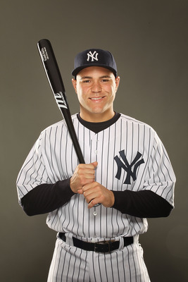 TAMPA, FL - FEBRUARY 23:  Russell Martin #55 of the New York Yankees poses for a portrait on Photo Day at George M. Steinbrenner Field on February 23, 2011 in Tampa, Florida.  (Photo by Al Bello/Getty Images)