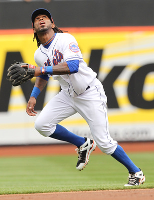 NEW YORK, NY - APRIL 10:  Jose Reyes #7 of the New York Mets in action against the Washington Nationals during their game on April 10, 2011 at Citi Field in the Flushing neighborhood of the Queens borough of New York City.  (Photo by Al Bello/Getty Images