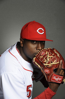 GOODYEAR, AZ - FEBRUARY 20: Dontrelle Willis #50 of the Cincinnati Reds poses during the Cincinnati Reds photo day at the Cincinnati Reds Spring Training Complex on February 20, 2011 in Goodyear, Arizona. (Photo by Rob Tringali/Getty Images)