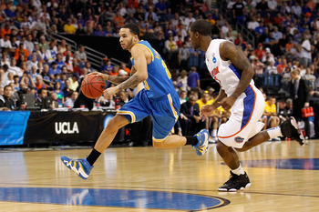 TAMPA, FL - MARCH 19:  Tyler Honeycutt #23 of the UCLA Bruins drives against the Florida Gators during the third round of the 2011 NCAA men's basketball tournament at St. Pete Times Forum on March 19, 2011 in Tampa, Florida.  (Photo by J. Meric/Getty Imag