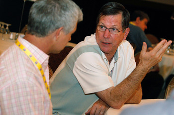 NEW ORLEANS, LA - MARCH 22:  San Diago Chargers head coach Norv Turner answers questions from the media during the NFL Annual Meetings at the Roosevelt Hotel on March 22, 2011 in New Orleans, Louisiana. Despite a NFL owners imposed lockout in effect since