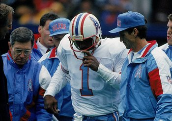 Warren Moon, the Oilers' star QB