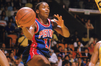"Isiah Thomas was the ultimate floor general for the Motor City ""Bad Boys"""