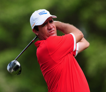 EAST LONDON, SOUTH AFRICA - JANUARY 10:  Scott Hend of Australia plays his tee shot on the first hole during the final round of the Africa Open at the East London Golf Club on January 10, 2010 in East London, South Africa.  (Photo by Stuart Franklin/Getty