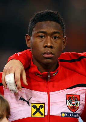 EINDHOVEN, NETHERLANDS - FEBRUARY 09:  David Alaba of Austria during the International Friendly match between The Netherlands and Austria at the Phillips Stadion on February 9, 2011 in Eindhoven, Netherlands.  (Photo by Richard Heathcote/Getty Images)