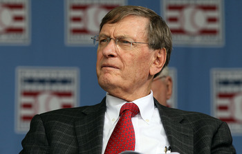 COOPERSTOWN, NY - JULY 25:  MLB commissioner Bud Selig attends the Baseball Hall of Fame induction ceremony at Clark Sports Center on July 25, 20010 in Cooperstown, New York. (Photo by Jim McIsaac/Getty Images)