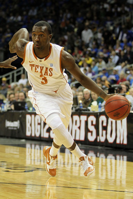 KANSAS CITY, MO - MARCH 11:  Jordan Hamilton #3 of the Texas Longhorns drives with the ball against the Texas A&M Aggies during their semifinal game in the 2011 Phillips 66 Big 12 Men's Basketball Tournament at Sprint Center on March 11, 2011 in Kansas Ci