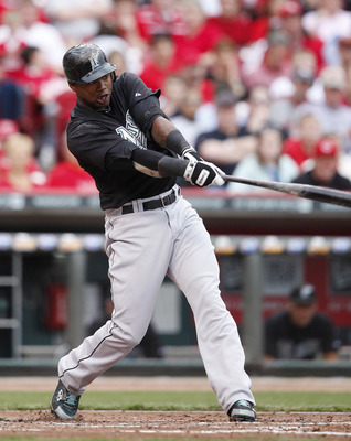 CINCINNATI, OH - MAY 1: Hanley Ramirez #2 of the Florida Marlins bats against the Cincinnati Reds at Great American Ball Park on May 1, 2011 in Cincinnati, Ohio. The Marlins defeated the Reds 9-5. (Photo by Joe Robbins/Getty Images)