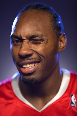 TARRYTOWN, NY - JULY 29:  Joey Dorsey of the Houston Rockets  poses for a portrait during the 2008 NBA Rookie Photo Shoot on July 29, 2008 at the MSG Training Facility in Tarrytown, New York.  NOTE TO USER: User expressly acknowledges and agrees that, by