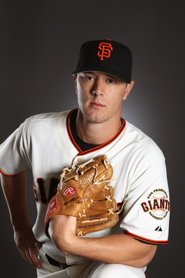 SCOTTSDALE, AZ - FEBRUARY 23:  Steve Edlefsen #65 of the San Francisco Giants poses for a portrait during media photo day at Scottsdale Stadium on February 23, 2011 in Scottsdale, Arizona.  (Photo by Ezra Shaw/Getty Images)