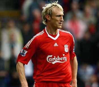 BOLTON, UNITED KINGDOM - NOVEMBER 15:  Sami Hyypia of Liverpool in action during the Barclays Premier League match between Bolton Wanderers and Liverpool at The Reebok Stadium on November 15, 2008 in Bolton, England.  (Photo by Clive Brunskill/Getty Image
