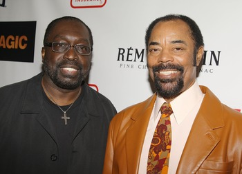 NEW YORK - FEBRUARY 25:  Former NBA players Earl Monroe and Walt Frazier attend the premiere of 'Black Magic' at The Apollo Theatre February 25, 2008 in New York City.  (Photo by Stephen Lovekin/Getty Images)