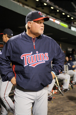 BALTIMORE, MD - APRIL 20:  Manager Ron Gardenhire of the Minnesota Twins watches the game against the Baltimore Orioles at Oriole Park at Camden Yards on April 20, 2011 in Baltimore, Maryland.  (Photo by Greg Fiume/Getty Images)