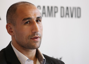 BERLIN - SEPTEMBER 16:  Boxer Arthur Abraham looks on during a press conference on September 16, 2010 in Berlin, Germany. Abraham signed a co-operation with German retail clothes company Camp David.  (Photo by Andreas Rentz/Getty Images)