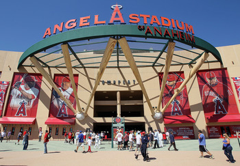 ANAHEIM, CA - JULY 13:  General view of atmosphere outside the 81st MLB All-Star Game at Angel Stadium of Anaheim on July 13, 2010 in Anaheim, California.  (Photo by Stephen Dunn/Getty Images)