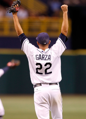 Matt Garza recorded the first no-hitter in Tampa Bay Rays history.