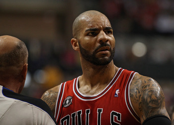 Bulls fans are getting used to this look from Boozer.