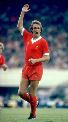 1980:  Phil Neal of Liverpool indicates to his team mates during a match. \ Mandatory Credit: Allsport UK /Allsport