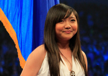LAS VEGAS, NV - MAY 07:  Actor/singer Charice Pempengco in the ring to sing the national anthem from the Philippines before the Manny Pacquiao and Shane Mosley WBO welterweight title fight at MGM Grand Garden Arena on May 7, 2011 in Las Vegas, Nevada.  (P