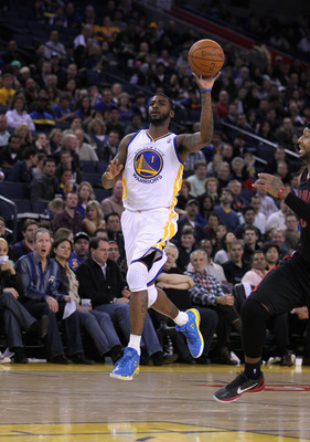 OAKLAND, CA - MARCH 25:  Dorell Wright #1 of the Golden State Warriors in action against the Toronto Raptors at Oracle Arena on March 25, 2011 in Oakland, California. NOTE TO USER: User expressly acknowledges and agrees that, by downloading and or using t